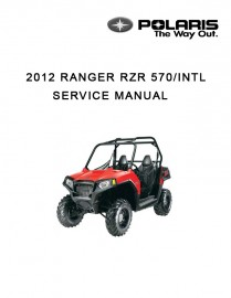 2012 Polaris RZR 570 Service Manual