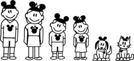 Disney stick family