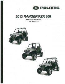 2013 Polaris RZR ,RZR4 800 Service Manual