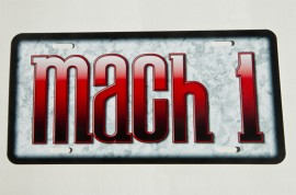 Mach 1 Mustang license plate