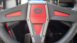 Polaris RZR / General 1000 Carbon Fiber Steering Wheel insert